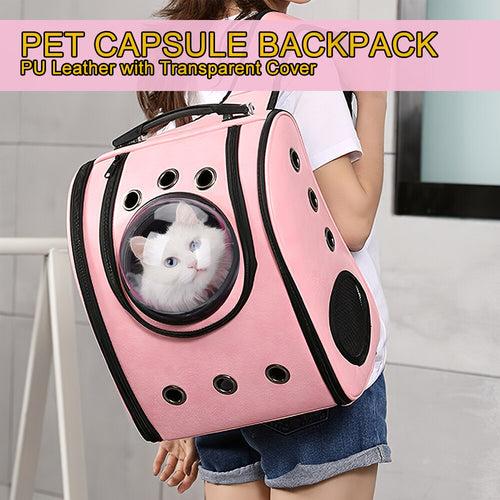 Space Capsule Backpack With Transparent Cover, Pet Carrier