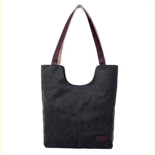 Stylish Shoulder Canvas Tote Bag With Color Options