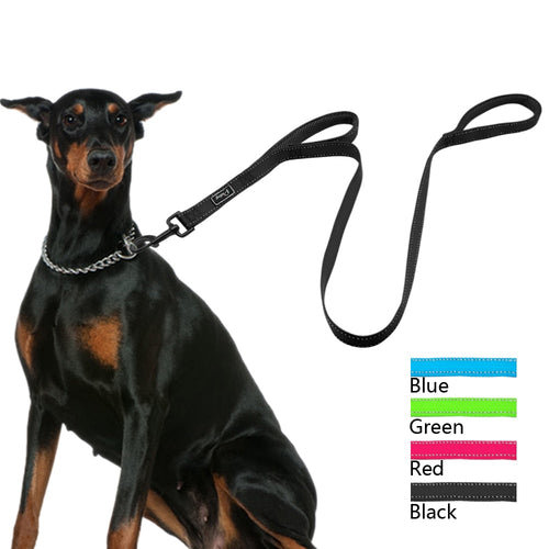 Reflective Nylon Dog Leash Heavy Duty Mesh Padded
