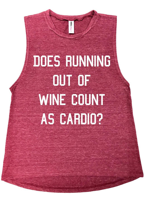 Running Out of Wine, Muscle Tank Top, Humor