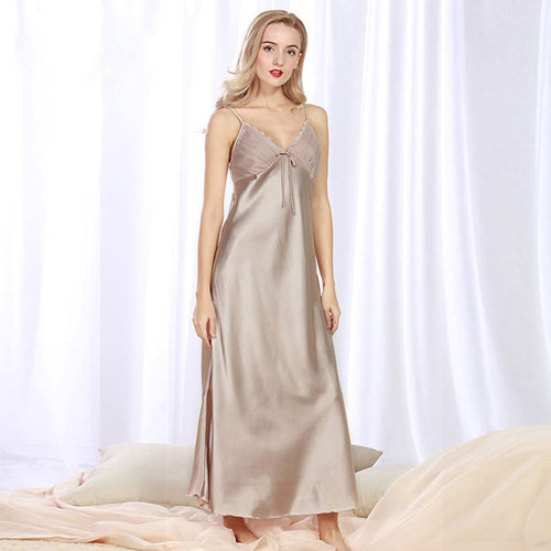 Long Satin Nightgown