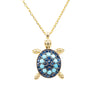 Turquoise Turtle Pendant Necklace In Gold