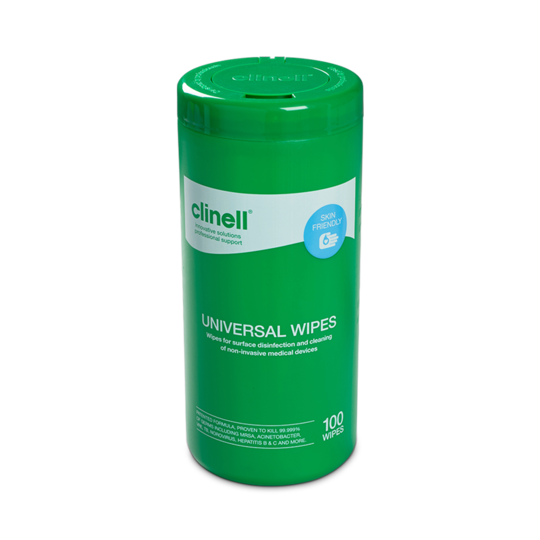 Clinell Universal Wipes - Tub of 100 Wipes