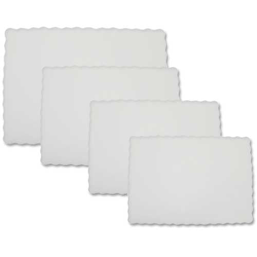 "Embossed Paper Tray Papers 16"" X 12"" White - 1000"