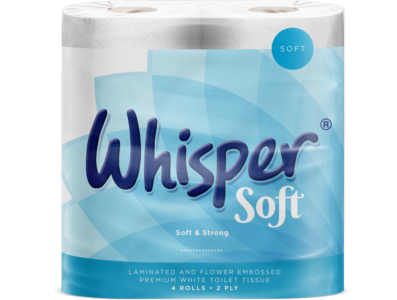 2 Ply Whisper Soft Toilet Roll  X 40