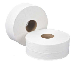 2 Ply Mini Jumbo Roll  -  12 X 200 mtr in White