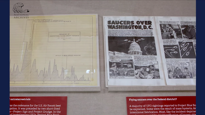 UFO Project Blue Book at National Archives Museum