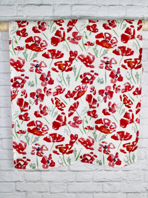 "Linen Tea Towel ""Poppies"""