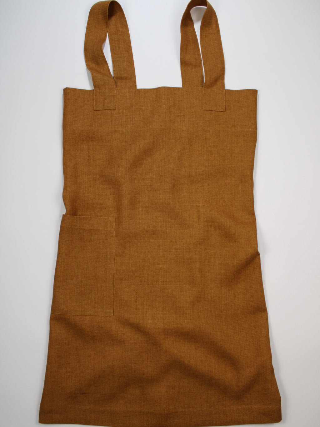 Linen cross back apron Aged Copper