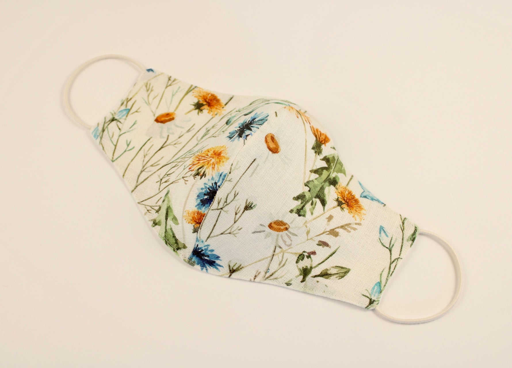 Pure Linen Mask Summer Flowers