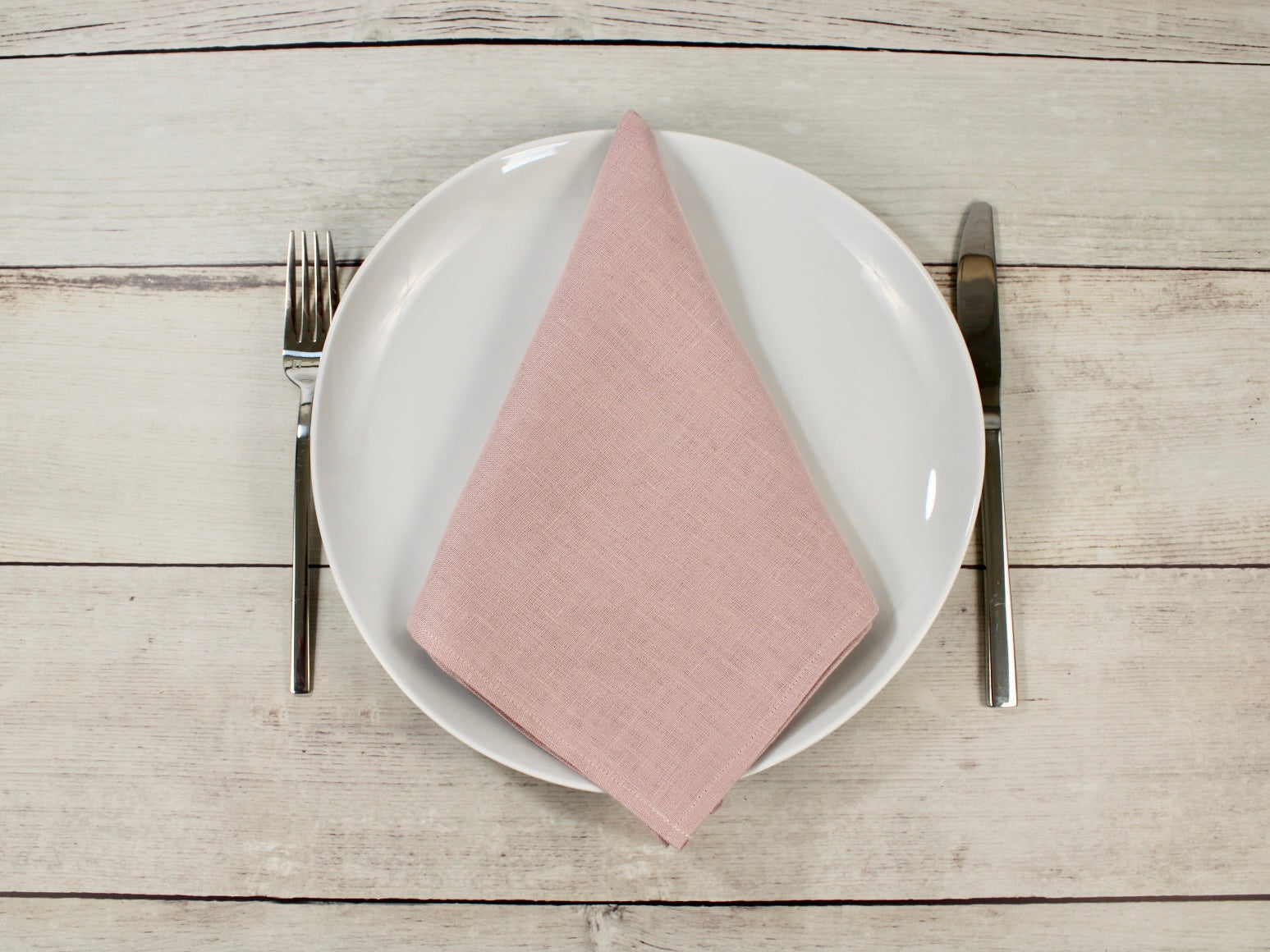 Linen napkins Muted Pink Set of two