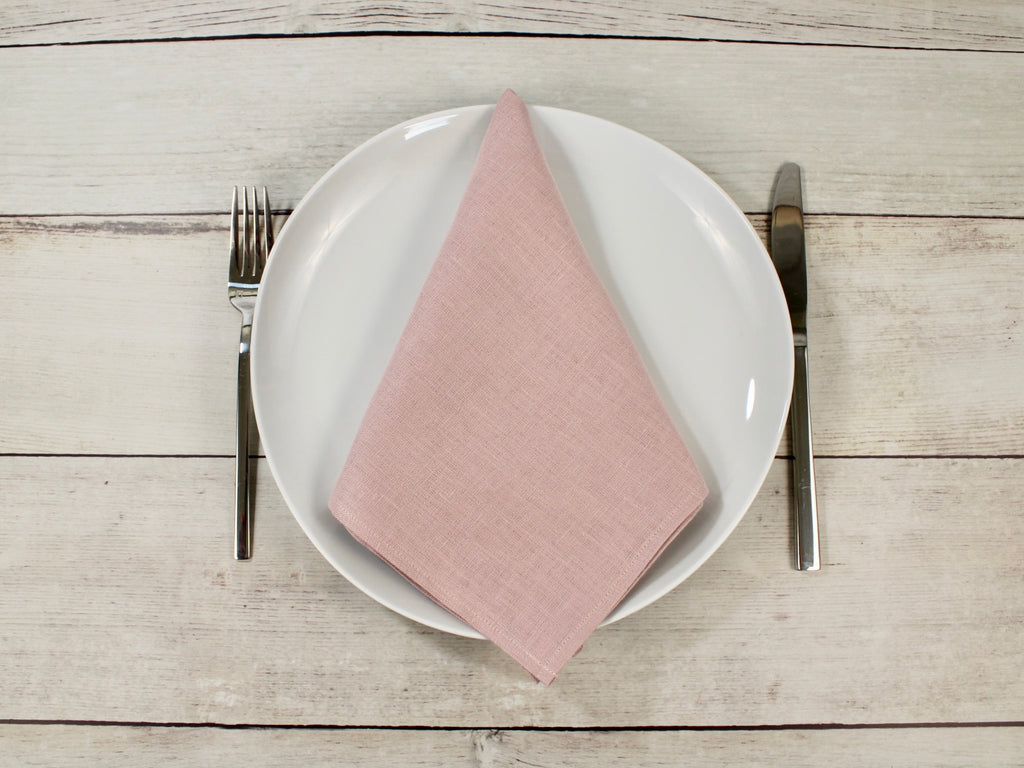 Linen napkins Muted Pink Set of four