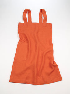 Linen cross back apron Festive Orange