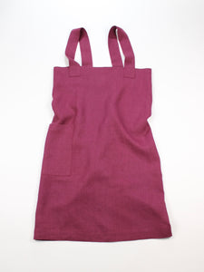 Linen cross back apron Glamorous Purple