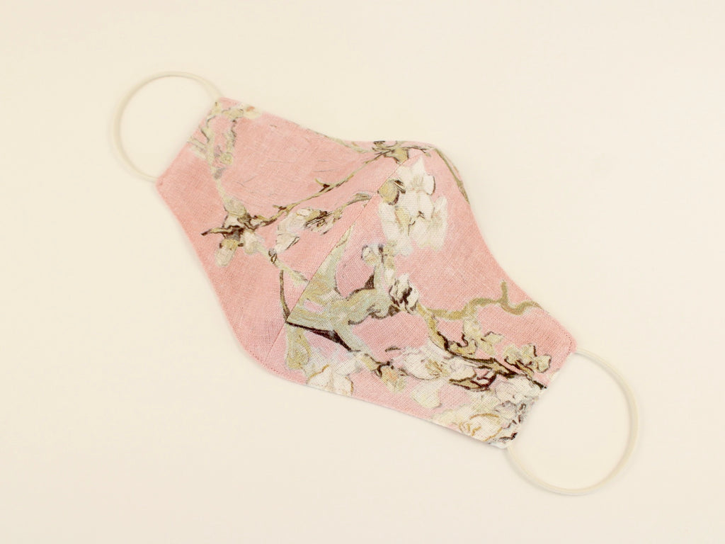 "Pure Linen Mask Van Gogh ""Almond Blossom"" Pink"