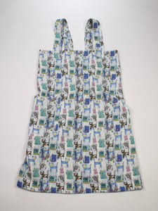 Linen cross back apron Watercolor Cats Artworks