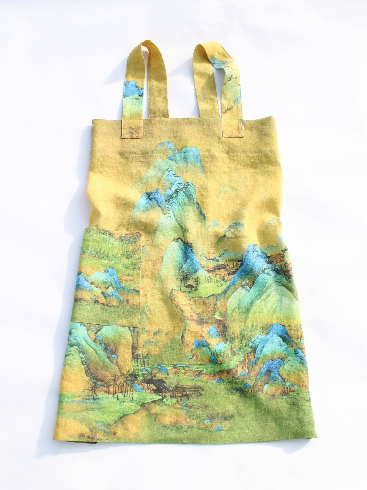 Linen cross back apron Wang Ximeng A Thousand Li of Rivers and Mountains