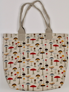 "Linen Handbag ""Mushrooms"""