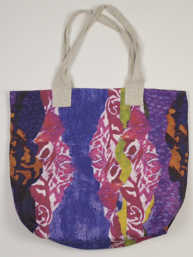 "Linen Handbag Print inspired by Giovanni Giacometti ""Spring in the Mountains"""