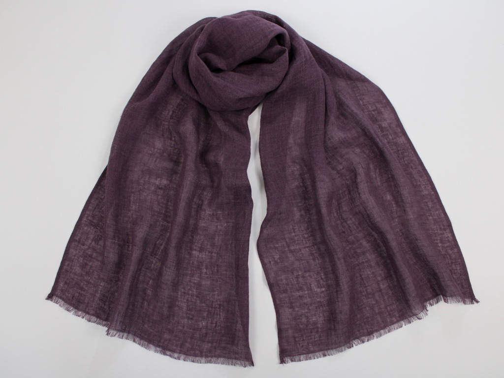 Lightweight Linen Scarf Dusty Purple