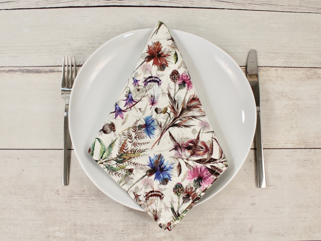 "Linen napkins ""Wildflowers"" Set of four"