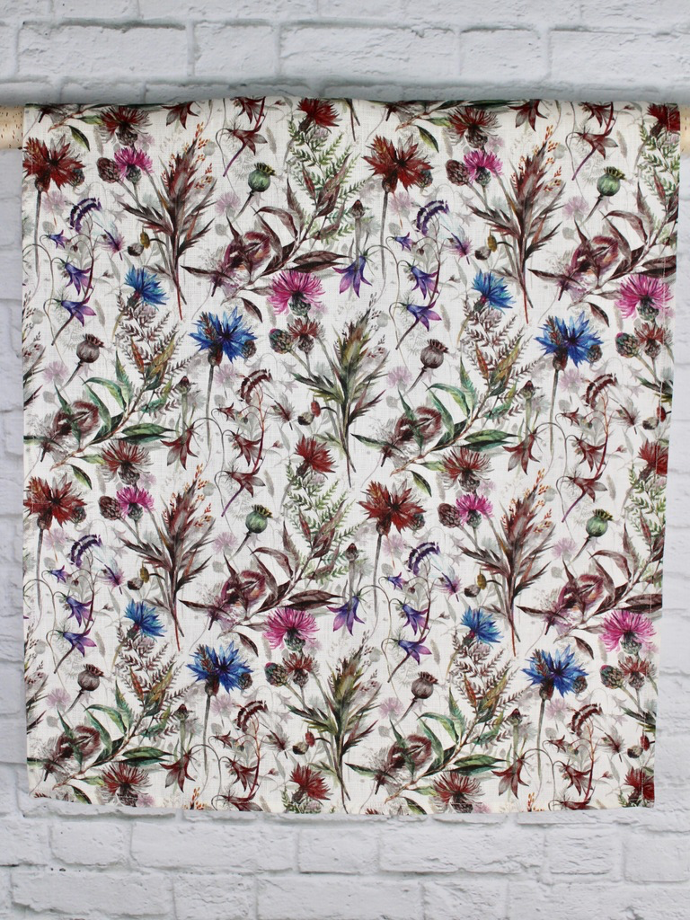 "Linen Tea Towel ""Wildflower field"""
