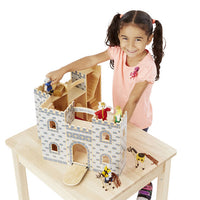 Fold & Go Castle Wooden Set with Figures & Furniture