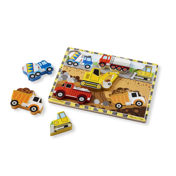 Construction Chunky Puzzle - 6 Pieces by Melissa & Doug