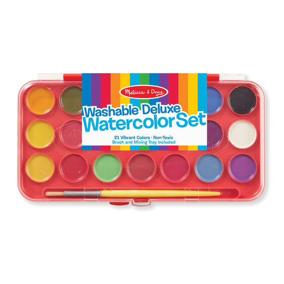 Deluxe Watercolor Paint Set with 21 colors