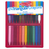 Triangular Crayons - 24 pack with storage case
