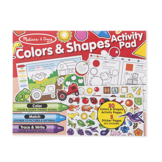 Colors & Shapes Activity Pad with Stickers & Coloring Pages