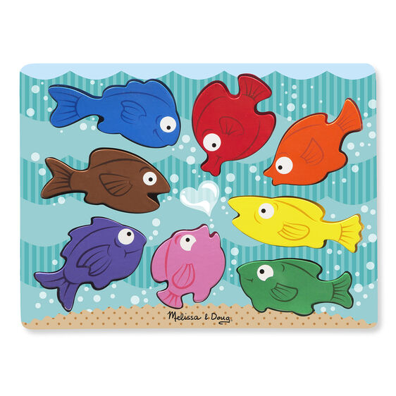 Chunky Wooden Puzzle - Colorful Fish by Melissa & Doug