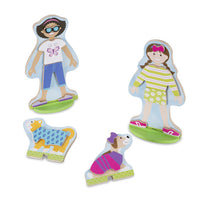 Best Friends Wooden Doll Magnetic Dress-Up Play Set