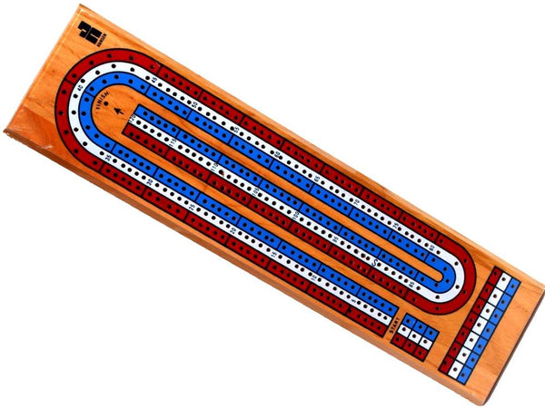 Triple Track Color Cribbage Board