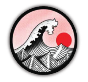 The Great Wave Round Vinyl Sticker