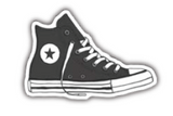 Converse High Top Sneakers Vinyl Sticker