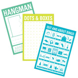 On-the-Go Mini Game Pad Set (Hangman, Dots, Bingo)