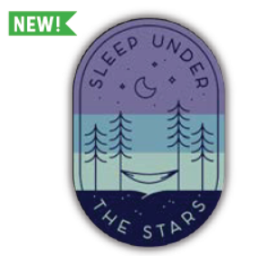 Sleep Under the Stars Camping Vinyl Sticker
