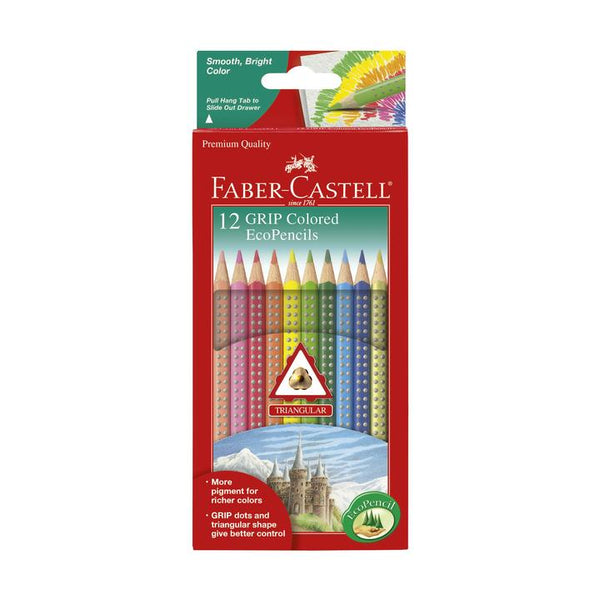 12 Grip Colored EcoPencils by Faber-Castell