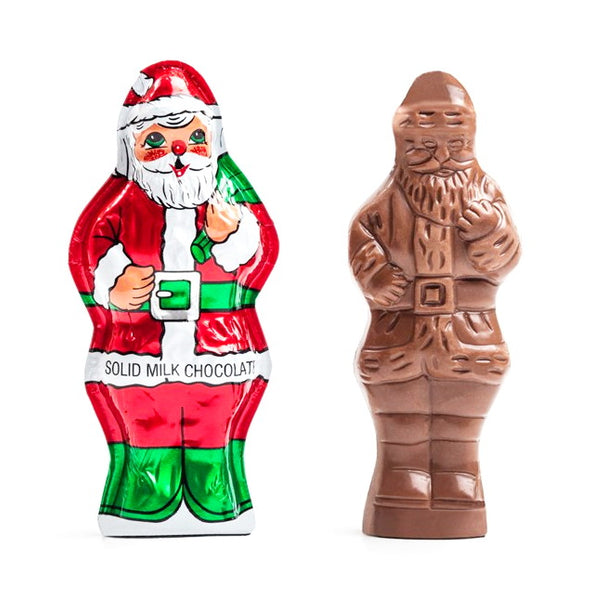 2oz Premium Milk Chocolate Santa Wrapped In Italian Foil 4""