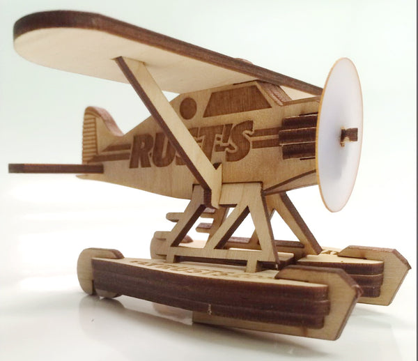 Alaskan Float Plane Ornament Wooden 3D Puzzle Kit