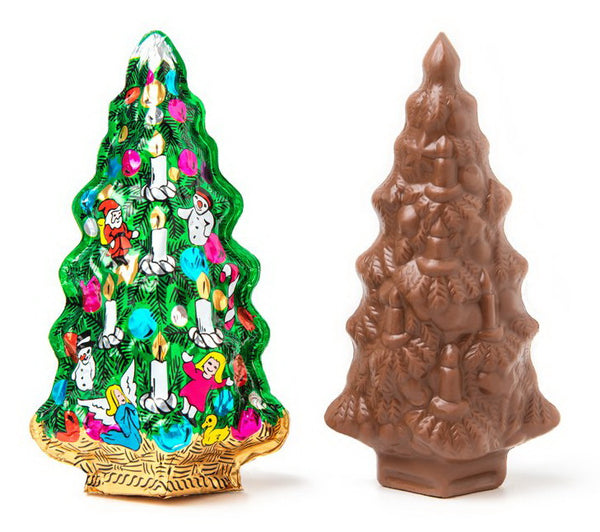 Premium Milk Chocolate Christmas Tree Wrapped In Italian Foil
