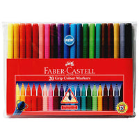 20 Grip Color Markers by Faber-Castell