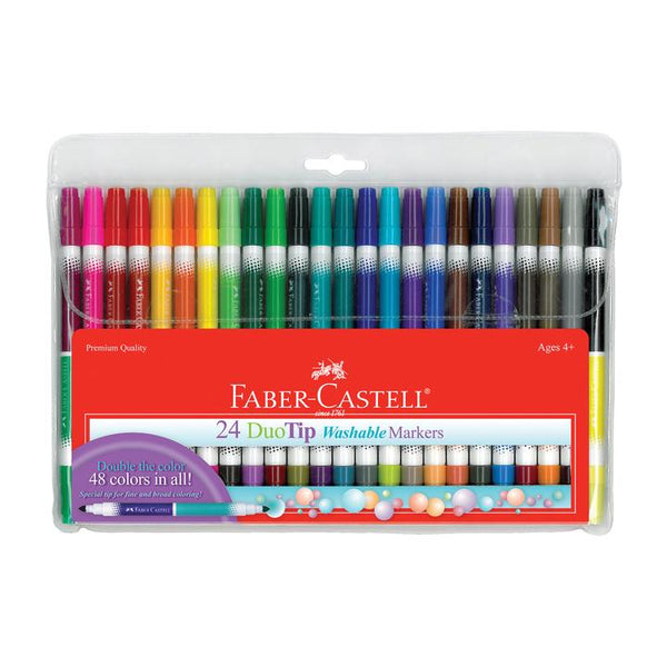 24 DuoTip Washable Markers by Faber-Castell