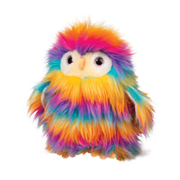 "Izzy Rainbow Owl Fur Fuzzle, 12"" Douglas Cuddle Plush"