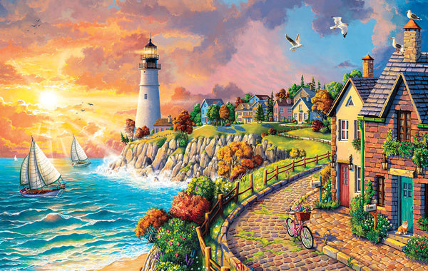 Lighthouse by the Sea, 550pc Puzzle