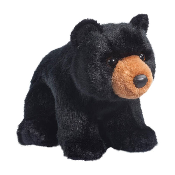 "Almond Black Bear, 12"" Douglas Cuddle Plush"