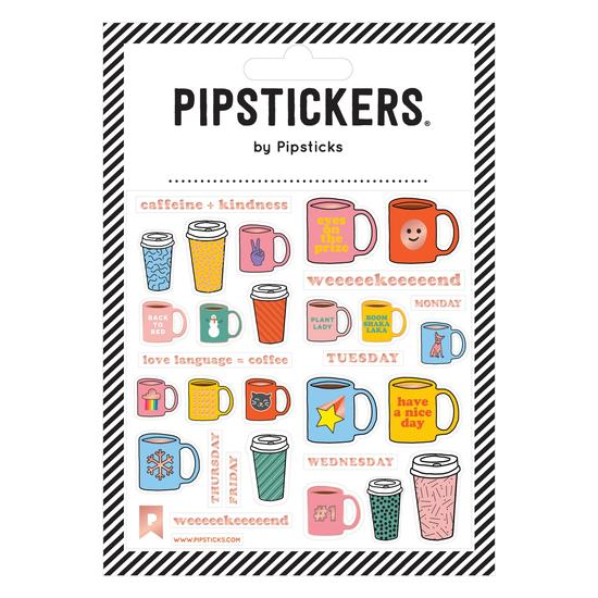DAILY COFFEE Stickers by Pipsticks