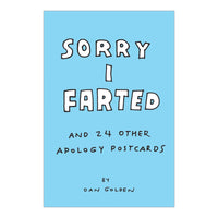 Sorry I Farted and 24 Other Apology Postcards in a Book