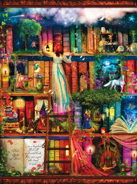 Treasure Hunt Bookshelf, 1000pc Puzzle